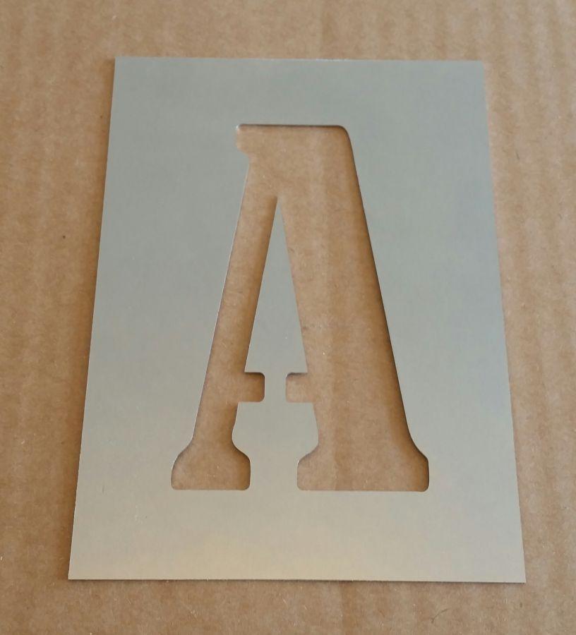 Pochoir lettre métal zinc modèle BERNARD CONDENSED