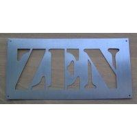 Pochoir lettre metal zinc ZEN
