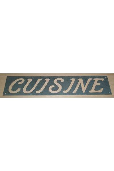 Pochoir en zinc CUISINE