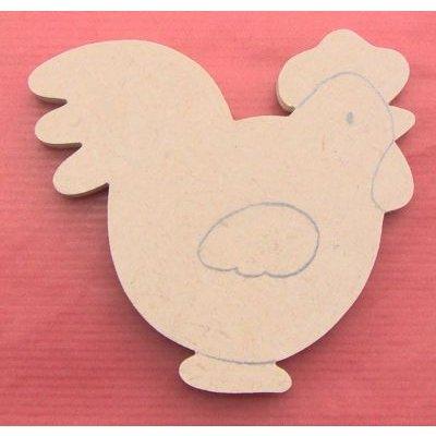 PRENOM DE PORTE AVEC MOTIF : Prénom + poule brut