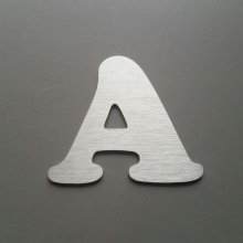 Lettre metal brossé COOPER BLACK