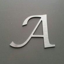 Lettre metal brossé LUCIDA CALLIGRAPHY
