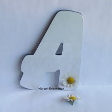 Lettre miroir murale decorative BALLOON