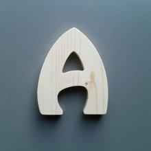 Lettre en bois épicéa HARLEQUIN