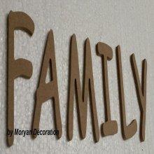 Lettres décoratives en bois à peindre ou à décorer FAMILY