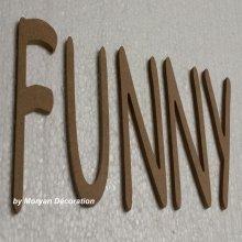 Lettres décoratives en bois à peindre ou à décorer FUNNY