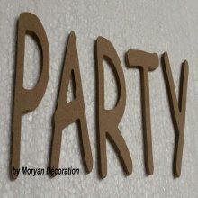 Lettre en bois decorative PARTY