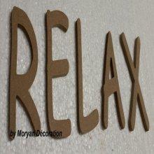 Lettres décoratives en bois à peindre ou à décorer RELAX