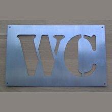 Pochoir lettre metal zinc WC
