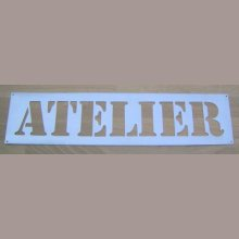 Pochoir lettre metal zinc ATELIER