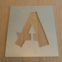 Pochoir lettre métal zinc modèle CANCUN