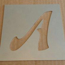 Pochoir lettre métal zinc modèle FELIPE