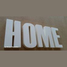 Lettre decorative polystyrene HOME , hauteur 20 cm