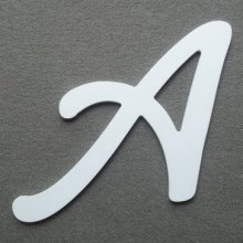 Lettre plastique PVC LOMBRIZ