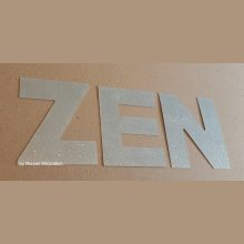 Lettre decorative en zinc ZEN 10 cm